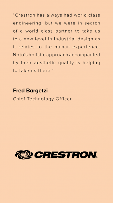 Noto | Product Design & Innovation | Crestron
